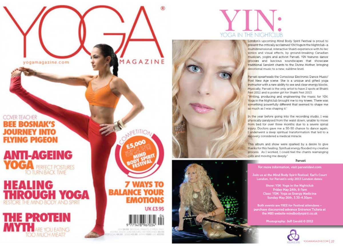 Parvati interview with Yoga Magazine (UK)